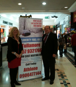 Brendan Flaherty, Managing Director, Flaherty Fuel Oils and Sinead Dooley, Chairperson Tullamore Town Council